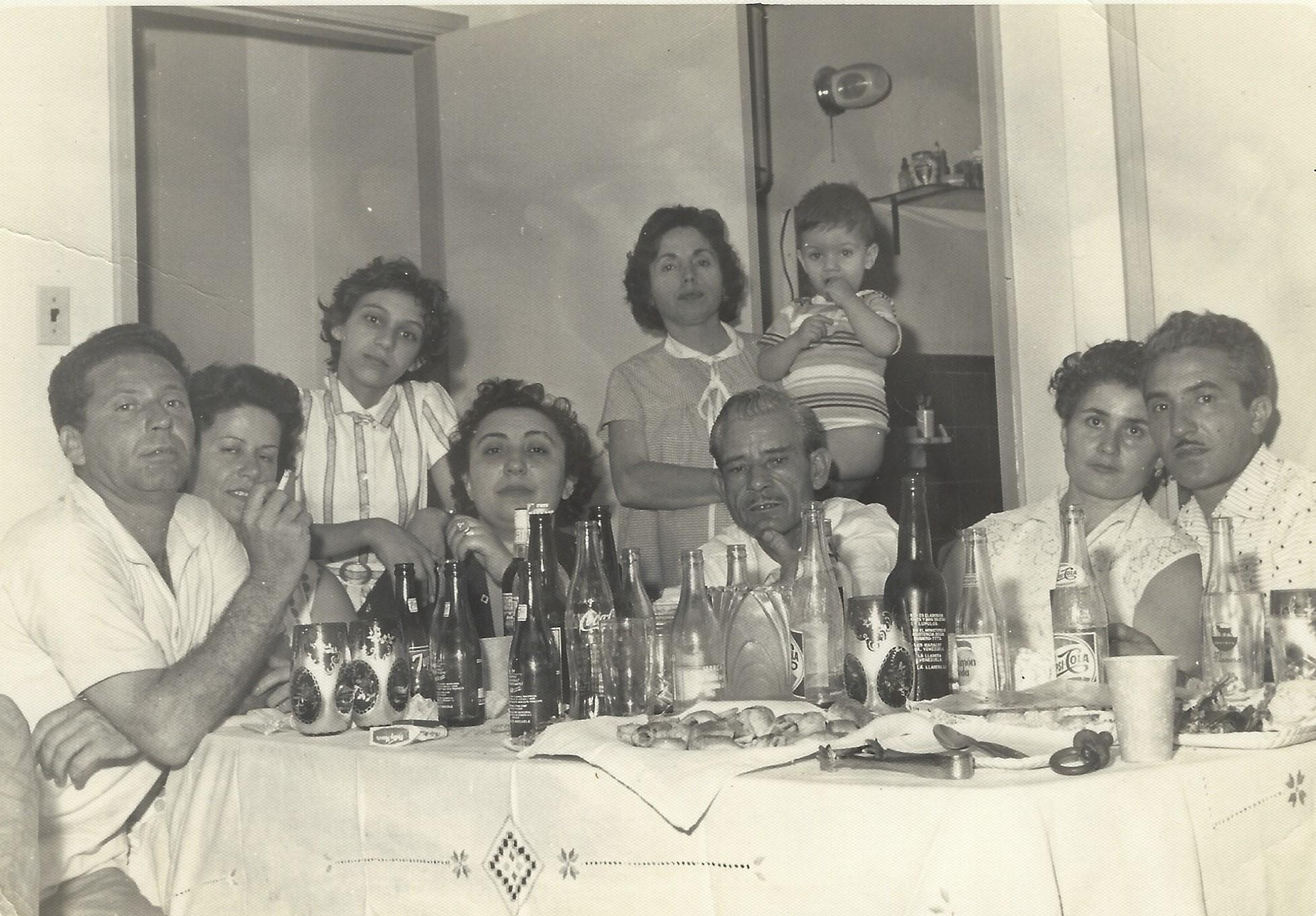 Historic photo of the Monti Ristorante Italiano Family